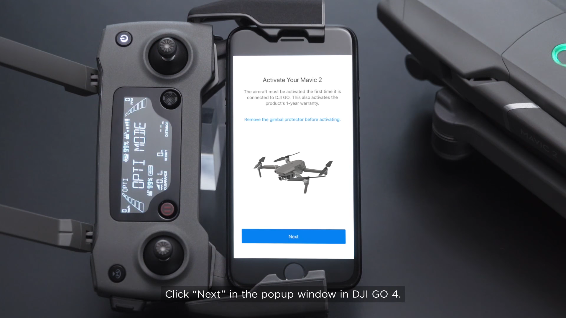 Open the DJI Go 4 App to Activate Mavic 2