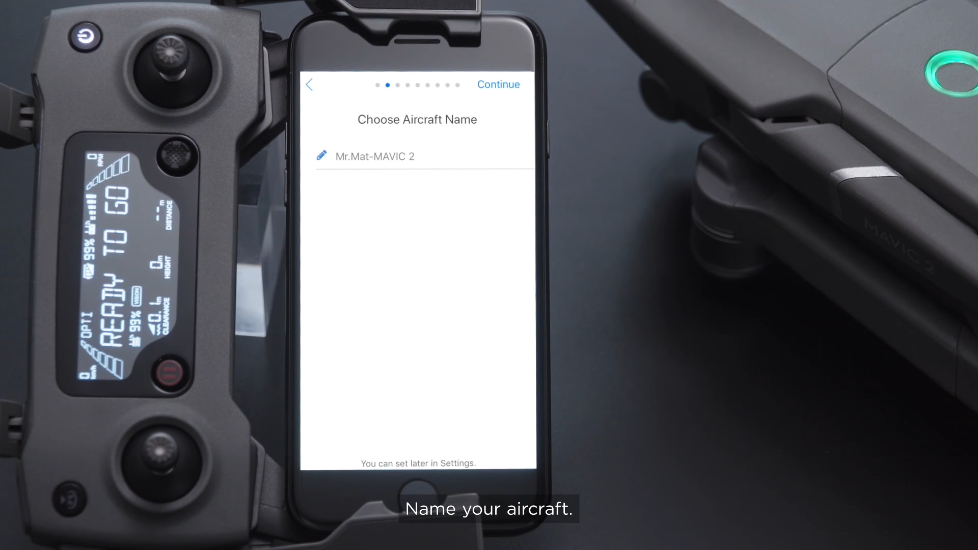 Name your DJI Mavic 2 During Activation