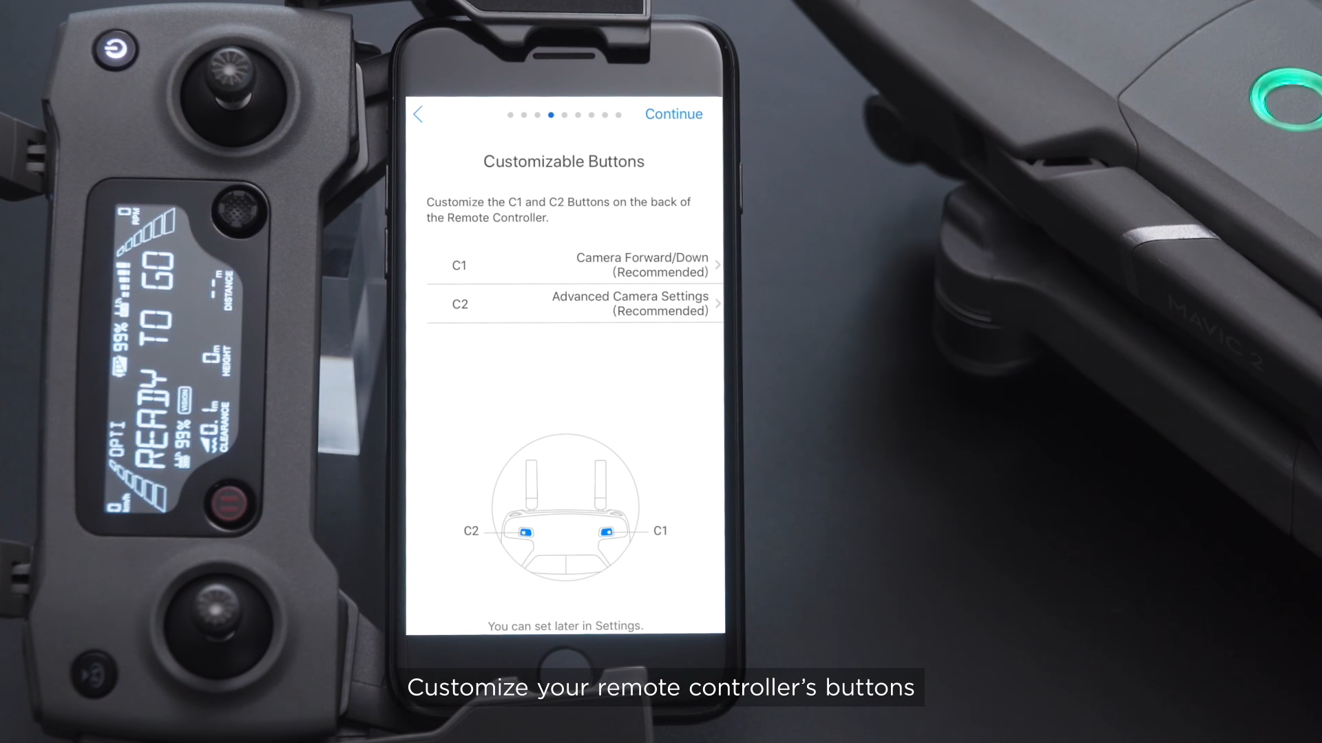 Customise the Mavic 2 Settings