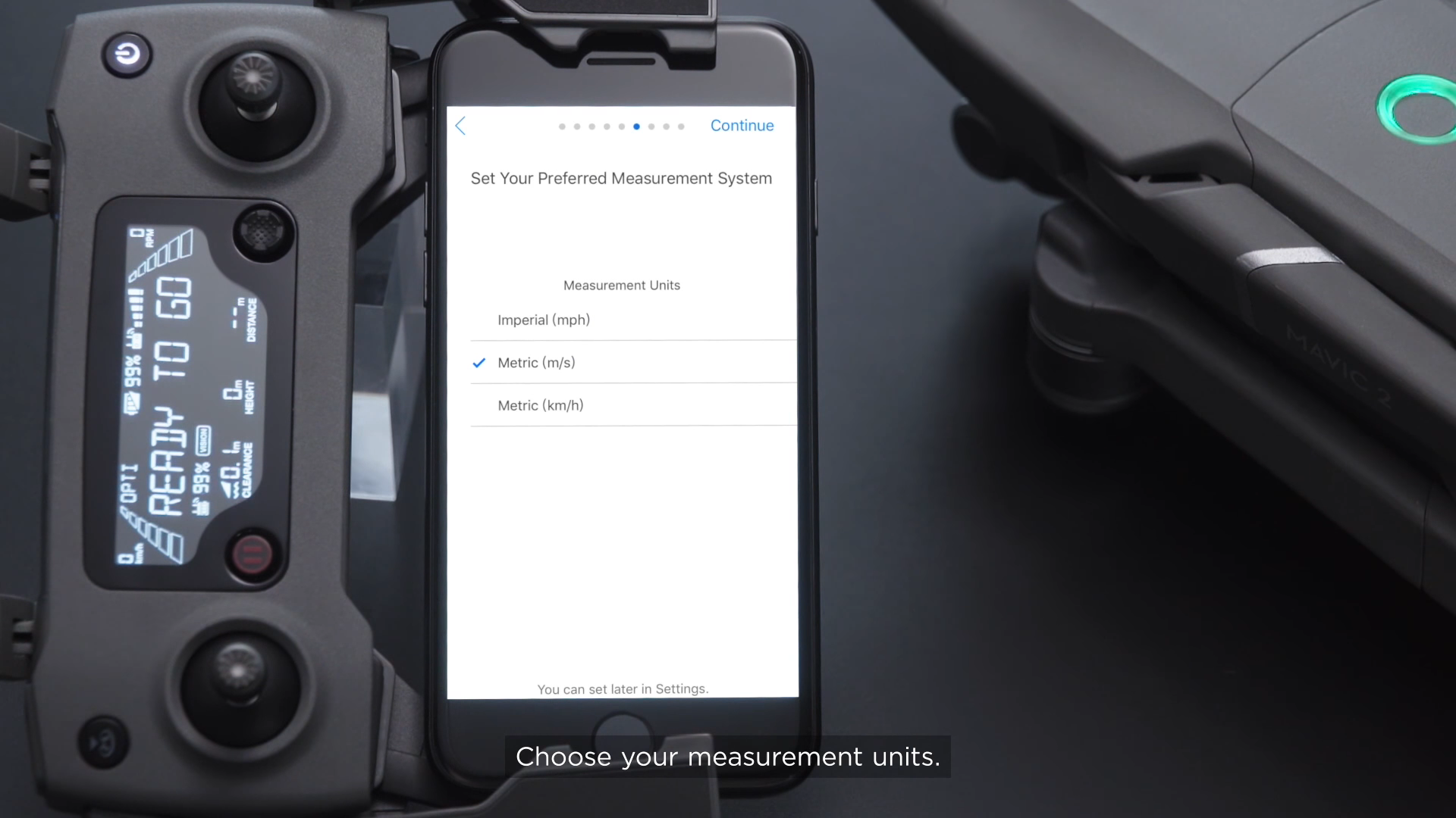 DJI Mavic 2 Different Measurement Units