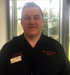 Station Officer Sean Lloyd Mid and West Wales Fire and Rescue Service