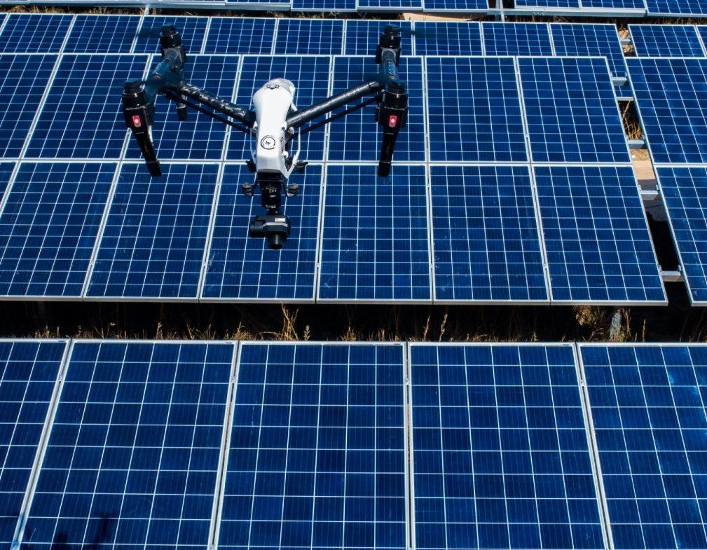 Drones are a quick way of conducting PV checks.