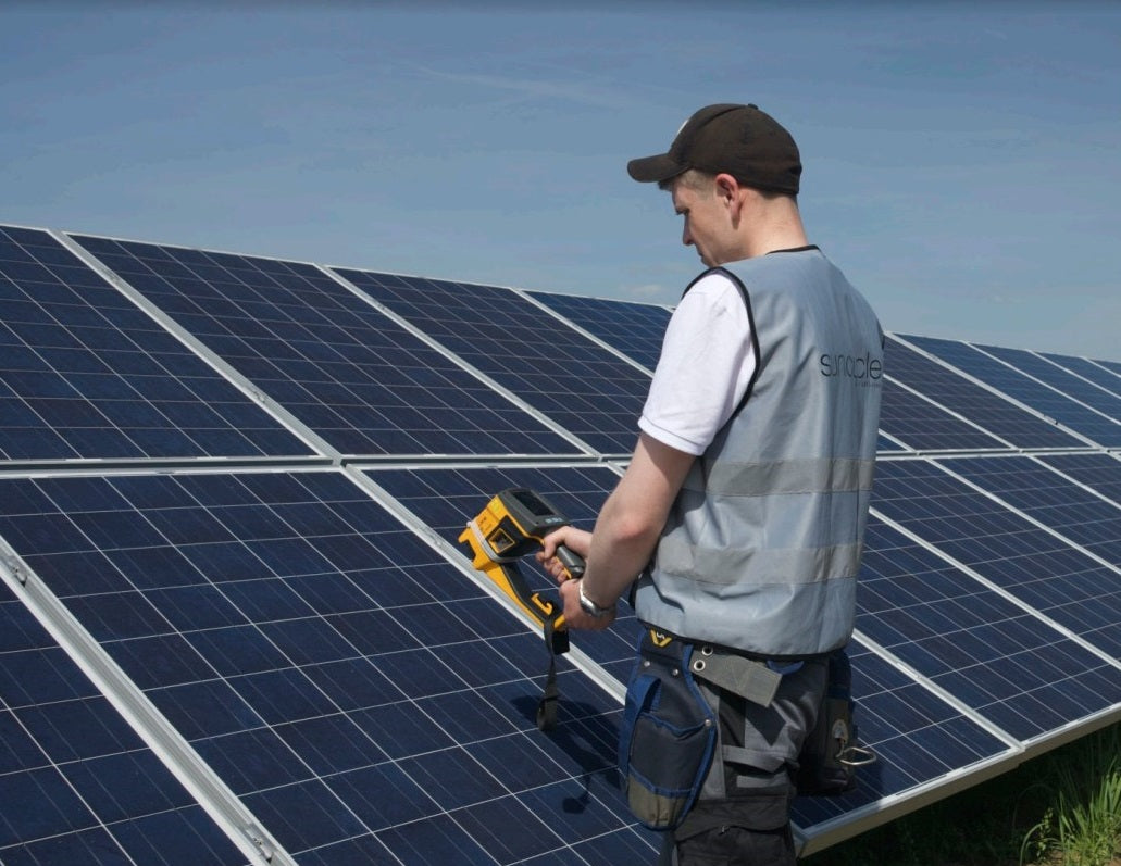Inspecting solar panels manually is time-consuming,