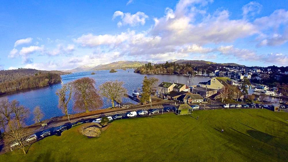 Lt Bruce Daniels aerial shot of Windermere