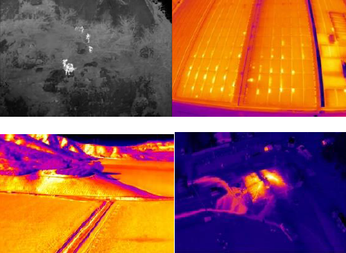 Thermal images from the DJI Zenmuse XT camera