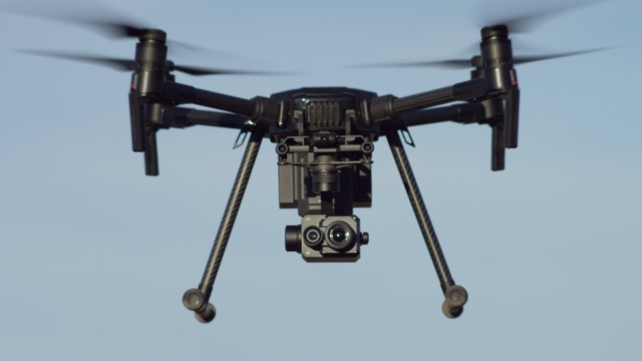 A DJI Zenmuse XT2 camera integrated with a DJI M200 Series drone.