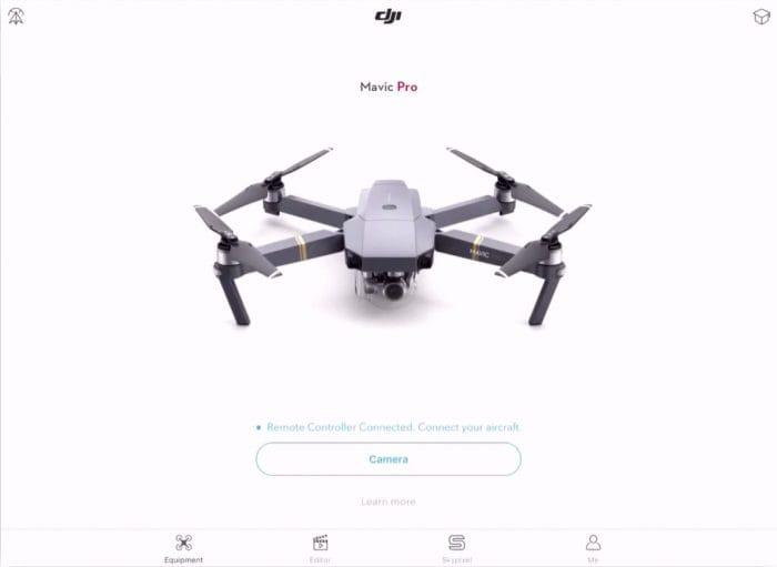 Launch DJI Go App
