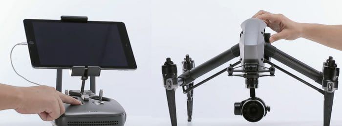 Link Inspire 2 and Remote Controller