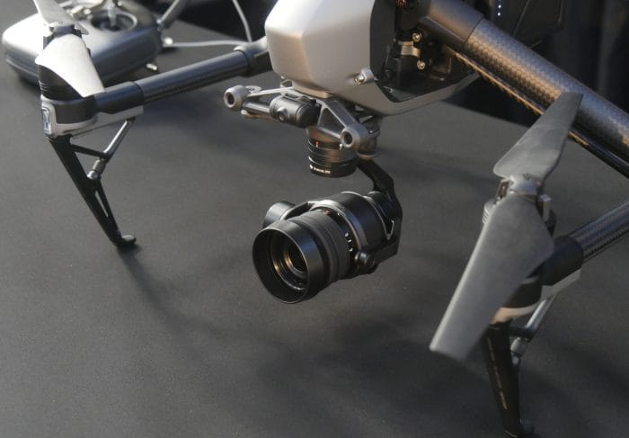DJI Inspire 2 Zenmuse X5S Close Up