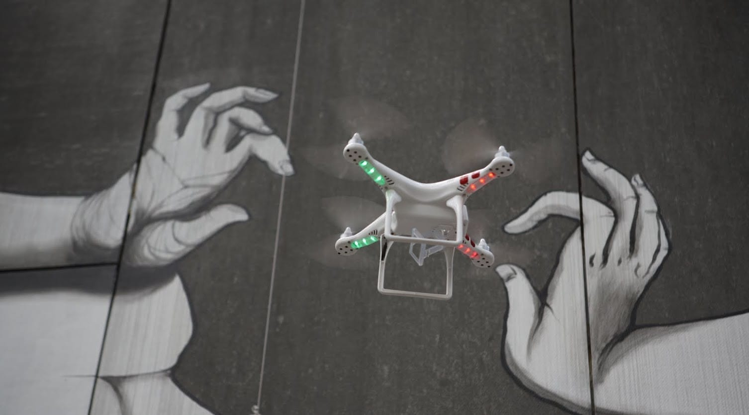 DJI Phantom airbourne