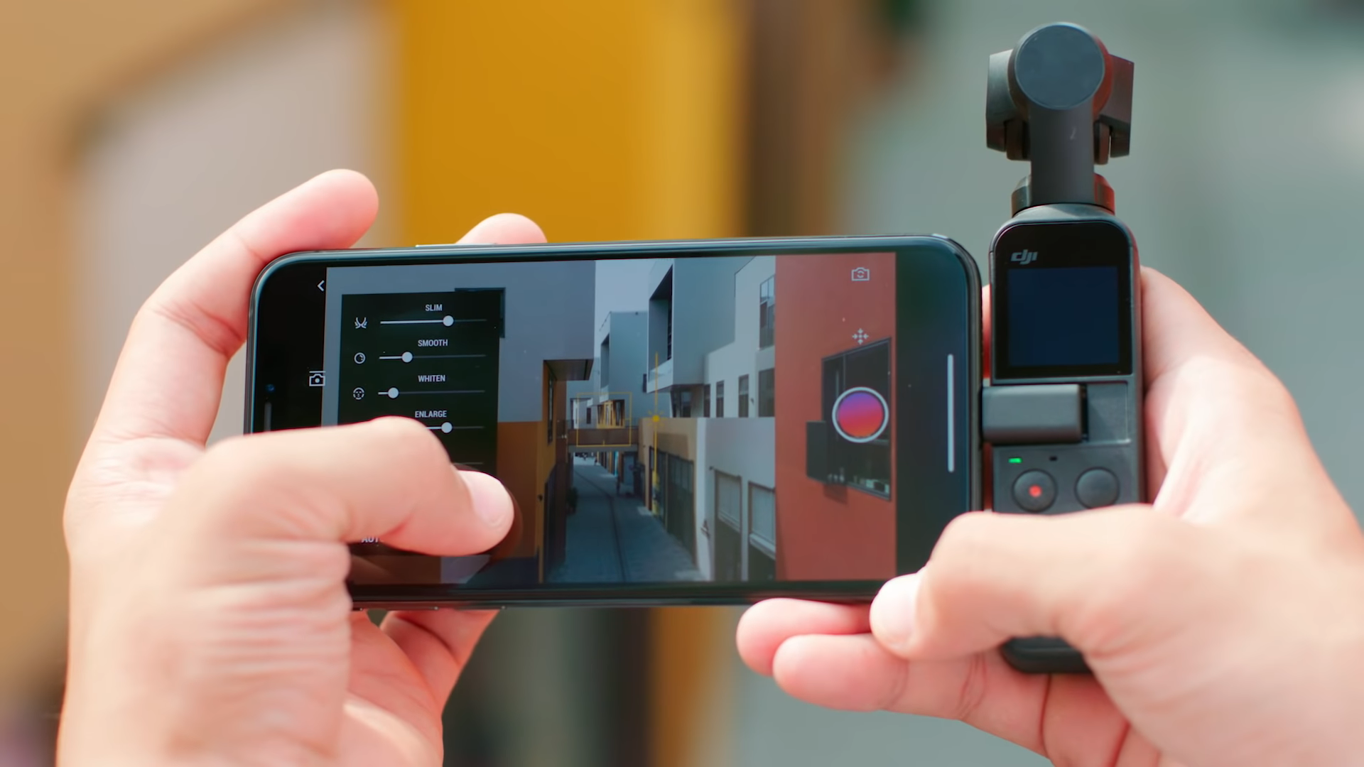using beautify tool settings in dji mimo app for the osmo pocket
