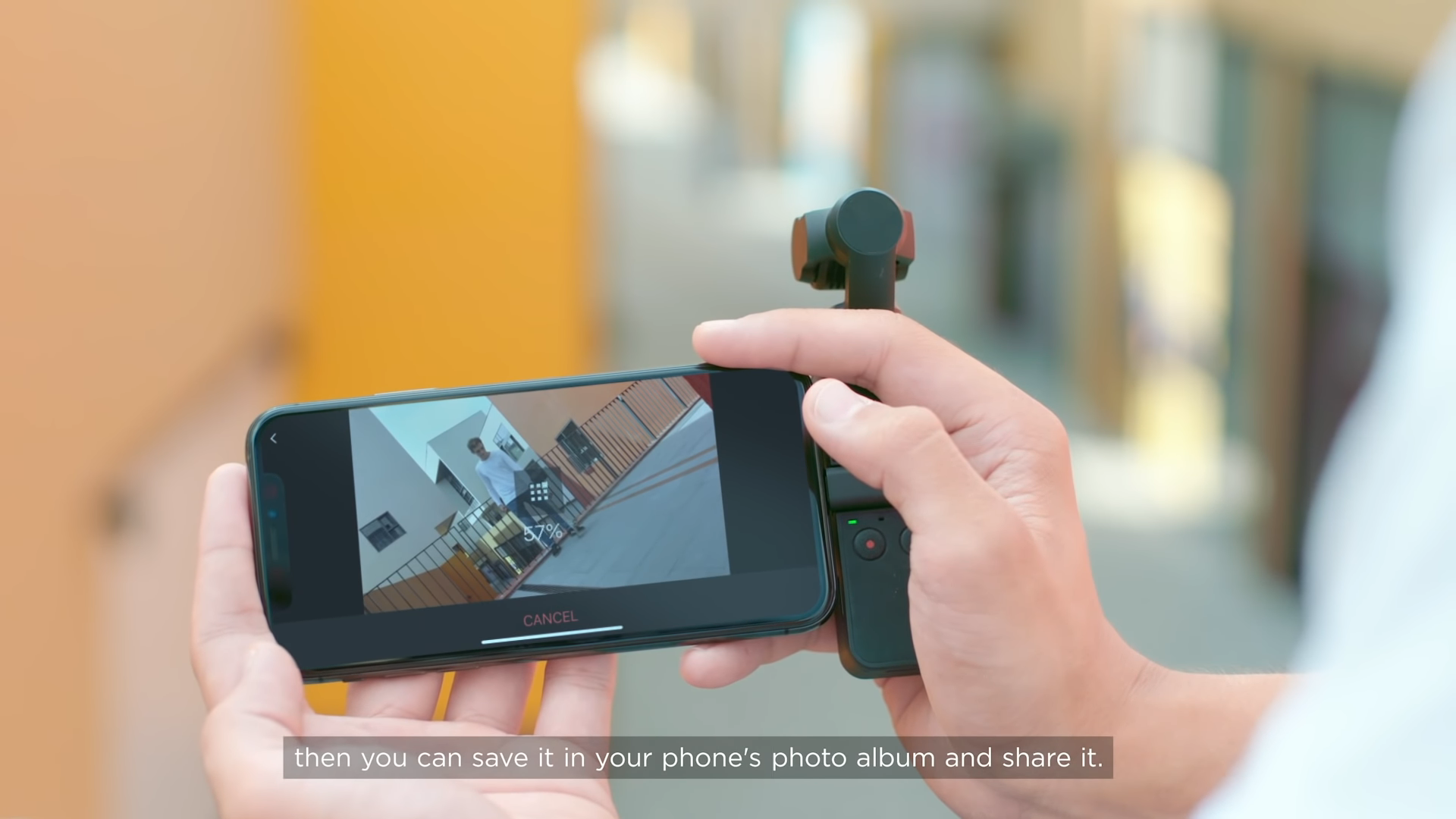 choose story mode on the osmo pocket dji mimo app