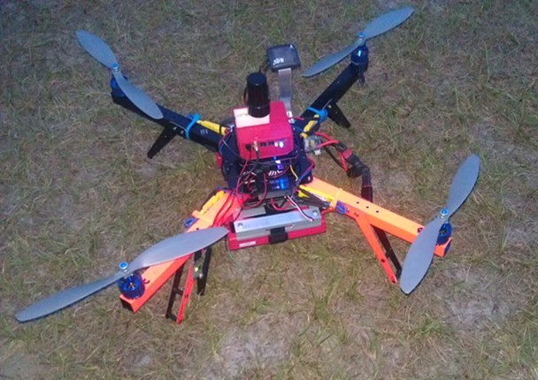Micro Aerial Projects' V-Map unit on top of a UAV