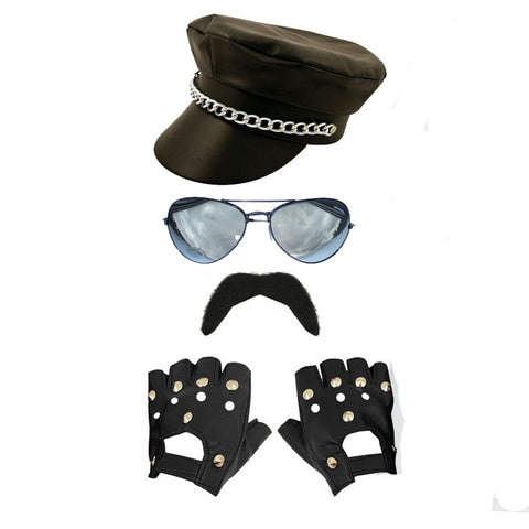 1980's Biker Gangster Fancy Dress Pride Costume Popstar Outfit Lgbtq Festival