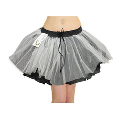 Women 3 Layers  TuTu Skirt Black White and Grey Fancy Dress Skirts