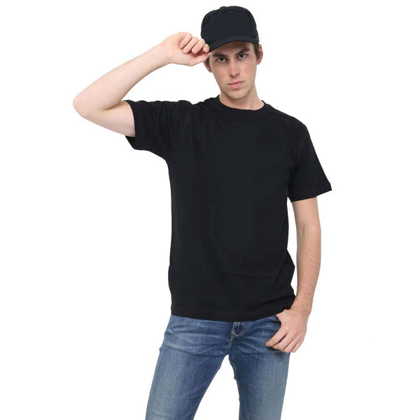 Adult Black Crew Neck T-Shirt