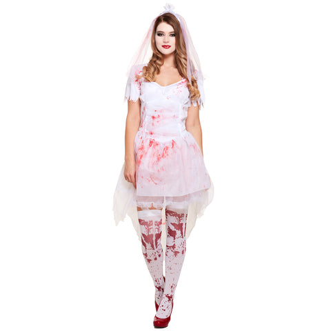 Halloween Female Bloody Bride Fancy Dress Up Outfit Costume One Size Adult New