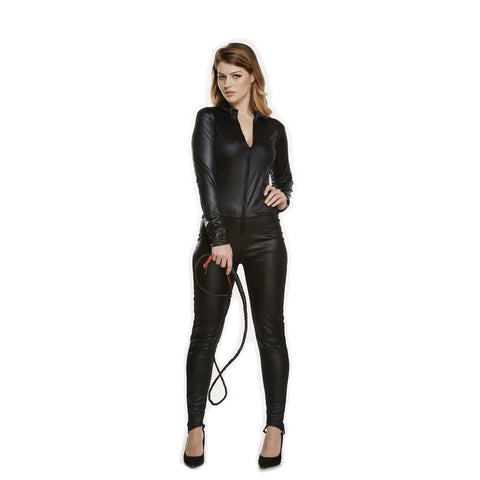 Adult Catsuit Ladies Costume Fancy Dress Cat Suit Black