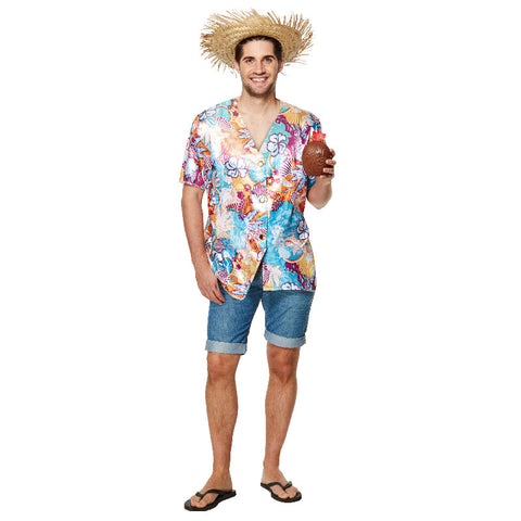 Adult Hawaiian Shirt Stag Beach Party Dress