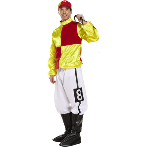 Adult Jockey Red Yellow Costume