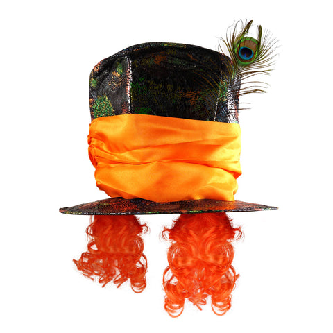 Adult Mad Hatter Orange Top Hat Book Week Day Costume Accessory UK