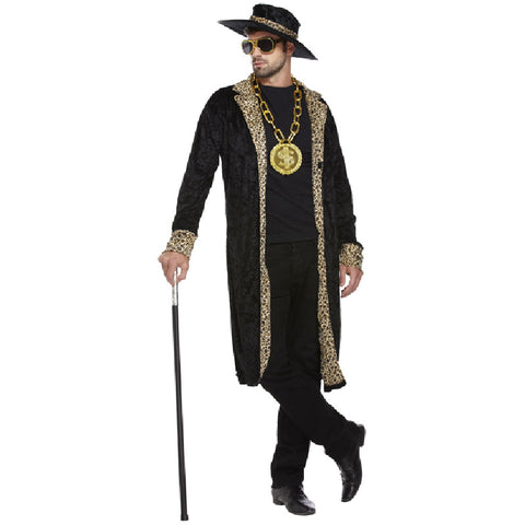 Adult 1920's Black Pimp Fancy Dress Costume