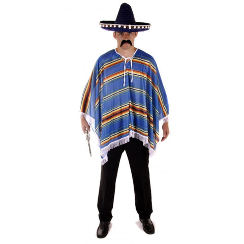 Adult Poncho Blue Costume