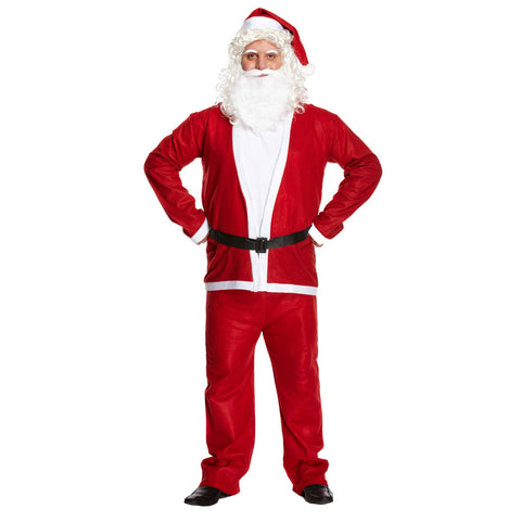 Adult Santa Claus 5 Pcs Suit Father Costume Unisex Xmas Party Novelty Fancy Dress