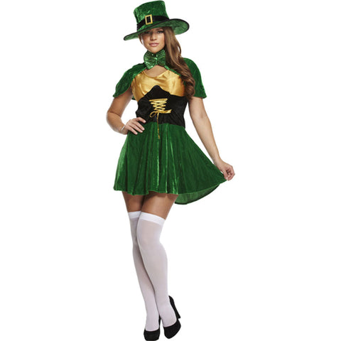 Adult Sexy Leprechaun Lady Fancy Dress Costume