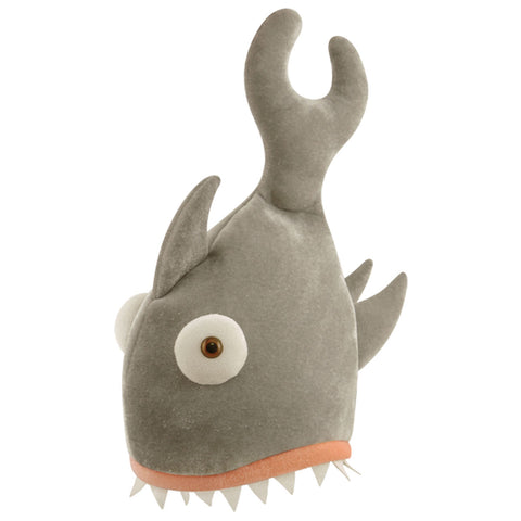 Adult Shark Bite Grey Hat Comedy Novelty Stag Night Fancy Dress Party Prop