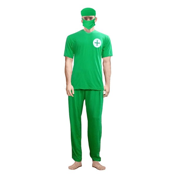Adult Mens Womens Surgeon Doctor Costume Hospital Surgery Fancy Dress Outfit
