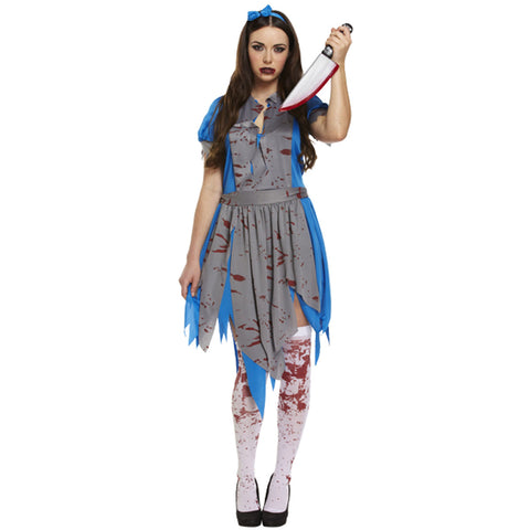 Adult Horror Alice Costume Ladies Halloween Fancy Dress