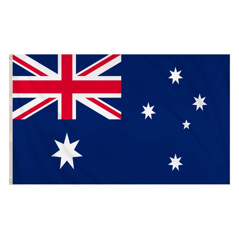 Australia Flag (5ft x 3ft) Polyester, double-stitched seam, metal eyelets