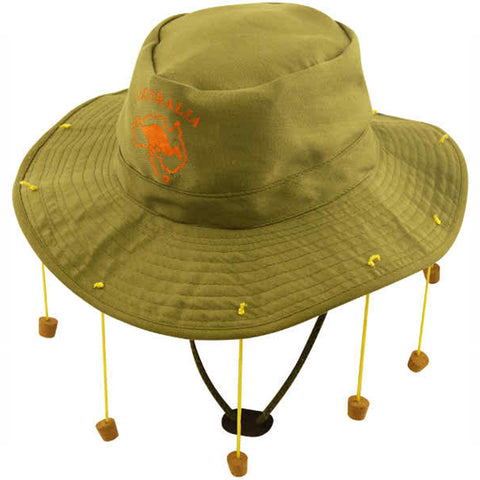 Unisex Australian Hat with 10 Strung Corks Adults Fancy Dress Party Accessories