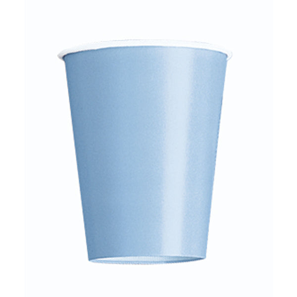 Baby Blue Plain Cups 9 Oz (Pack of 14)
