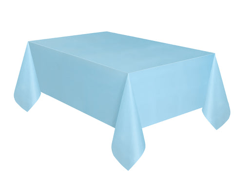 Baby Blue Plain Table Cover 54 x 108 Inches