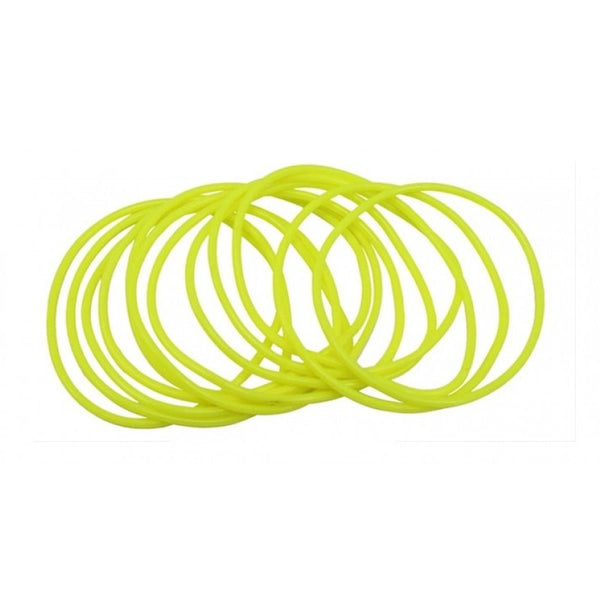 Neon Yellow Gummy Shag Bangles Fancy Gummy Wristbands Jelly 80's 90's Bands