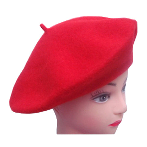 Unisex Red French Beret Hat Mime Cap Fancy Dress Costume Accessory One Size
