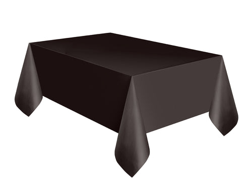 Black Basic Plain Table Cover 54 x 108 Inches