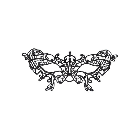 Ladies Sexy Black Stunning Lace Butterfly Eye Mask Masquerade Gothic Party Fancy Dress Accessory