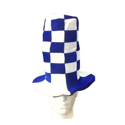 Unisex Wacky Tall Blue White Hat Adults Fancy Dress Party Accessory