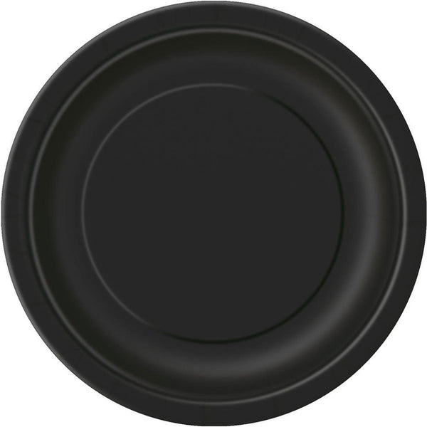 Plain Plates Midnight Black 9 Inches (Pack of 16)