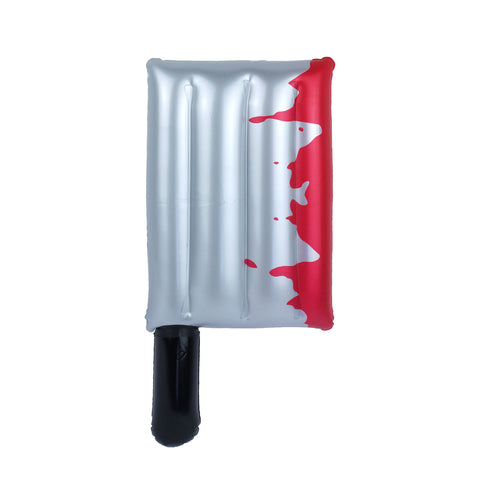 Inflatable Horror Bloody Cleaver Halloween Decoration - 40cm