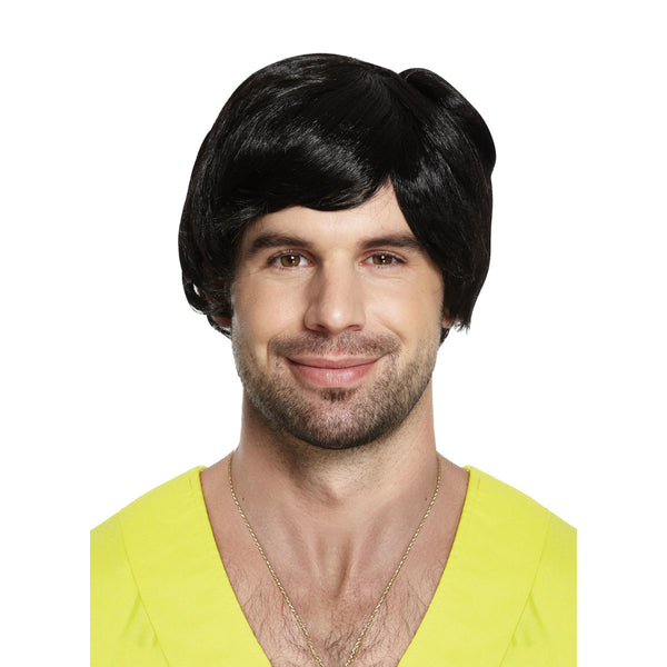 Adults Boy Band Wig Black 85g Mens World Book Day Fancy Dress Accessory