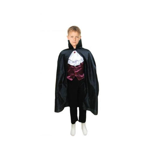 Children Black Halloween Fancy Dress Carded Cape Costume