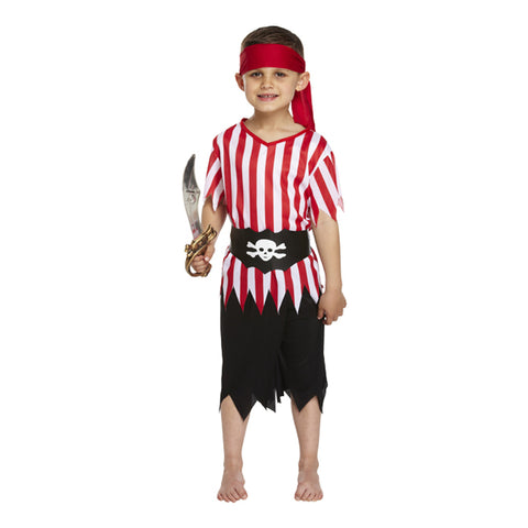 Boys Sea Pirate of Caribbean Fancy Dress Book Week Costume
