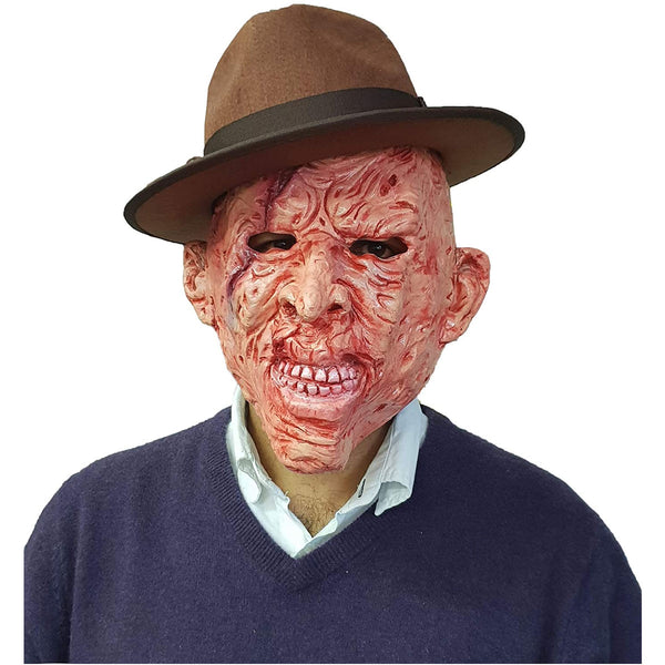 Adult Scary Burnt Man Mask Halloween Horror Party Scary Fancy Dress Accessory
