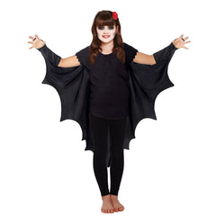 Children Halloween Vampire Black Bat Cape Wings Costume Fancy Dress
