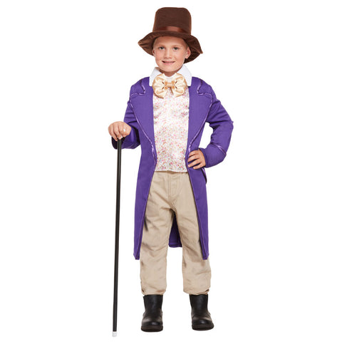 Child Chocolate Factory Costume Kids Fancy Dress Book Week Outfit