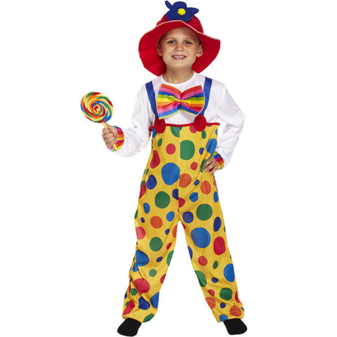 Child Clown Costume Kids Fancy Dress Book Week Outfit